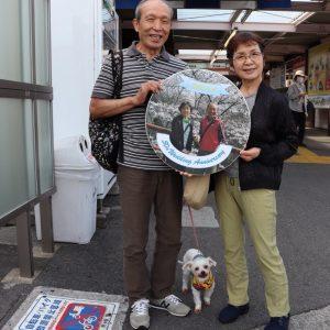 貝塚駅にて